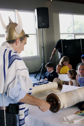 Torah and Brunhilde Hat
